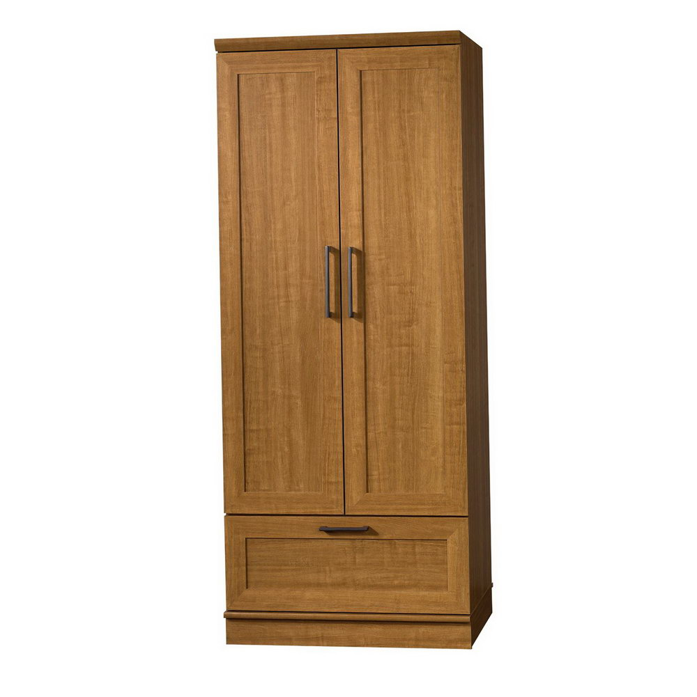 Sauder Homeplus Storage Cabinet With Sienna Oak Finish