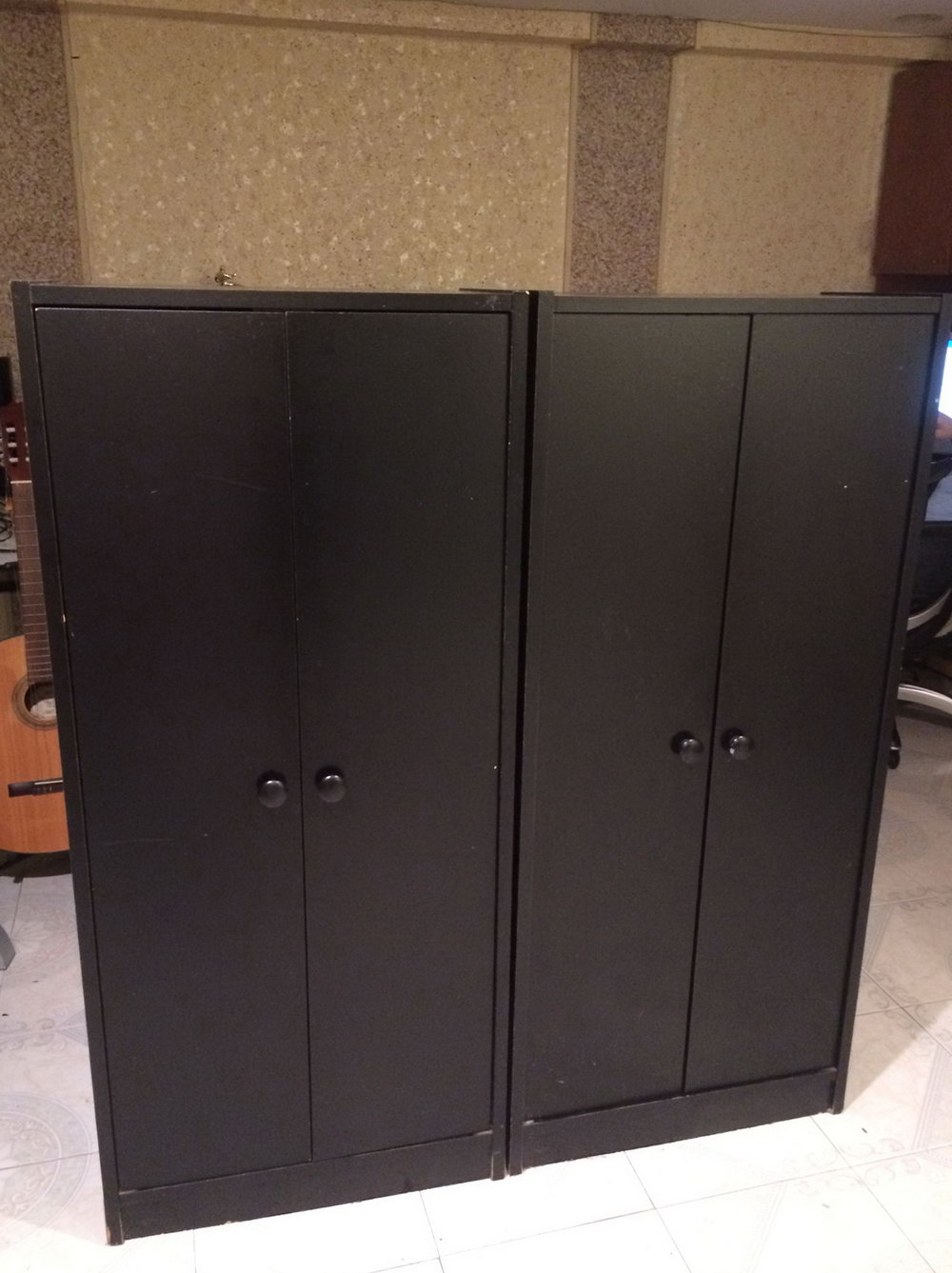 Small Black Storage Cabinet With Doors