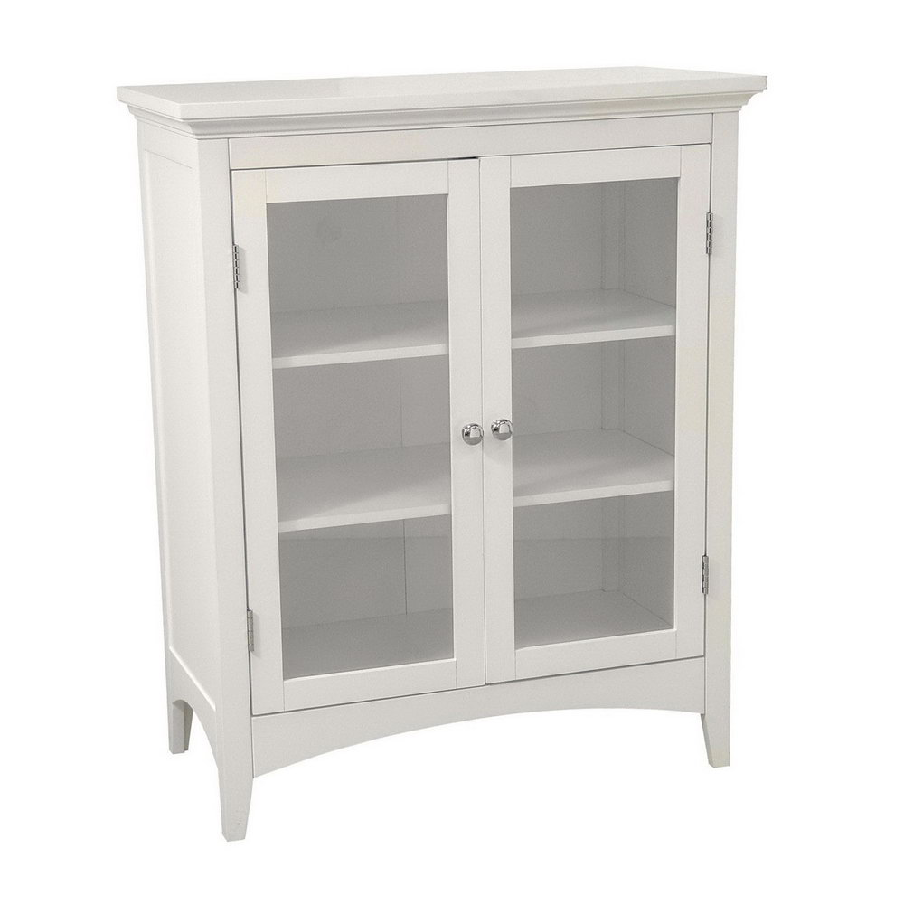 Small White Storage Cabinet With Doors