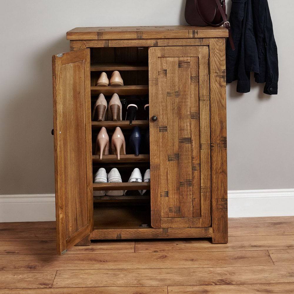Solid Wood Shoe Storage Cabinet