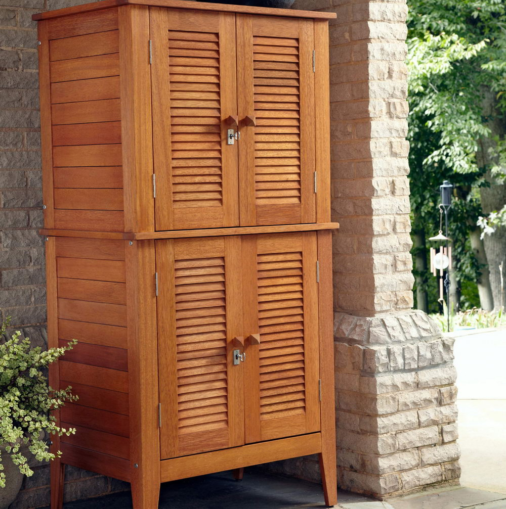 Solid Wood Storage Cabinets With Doors