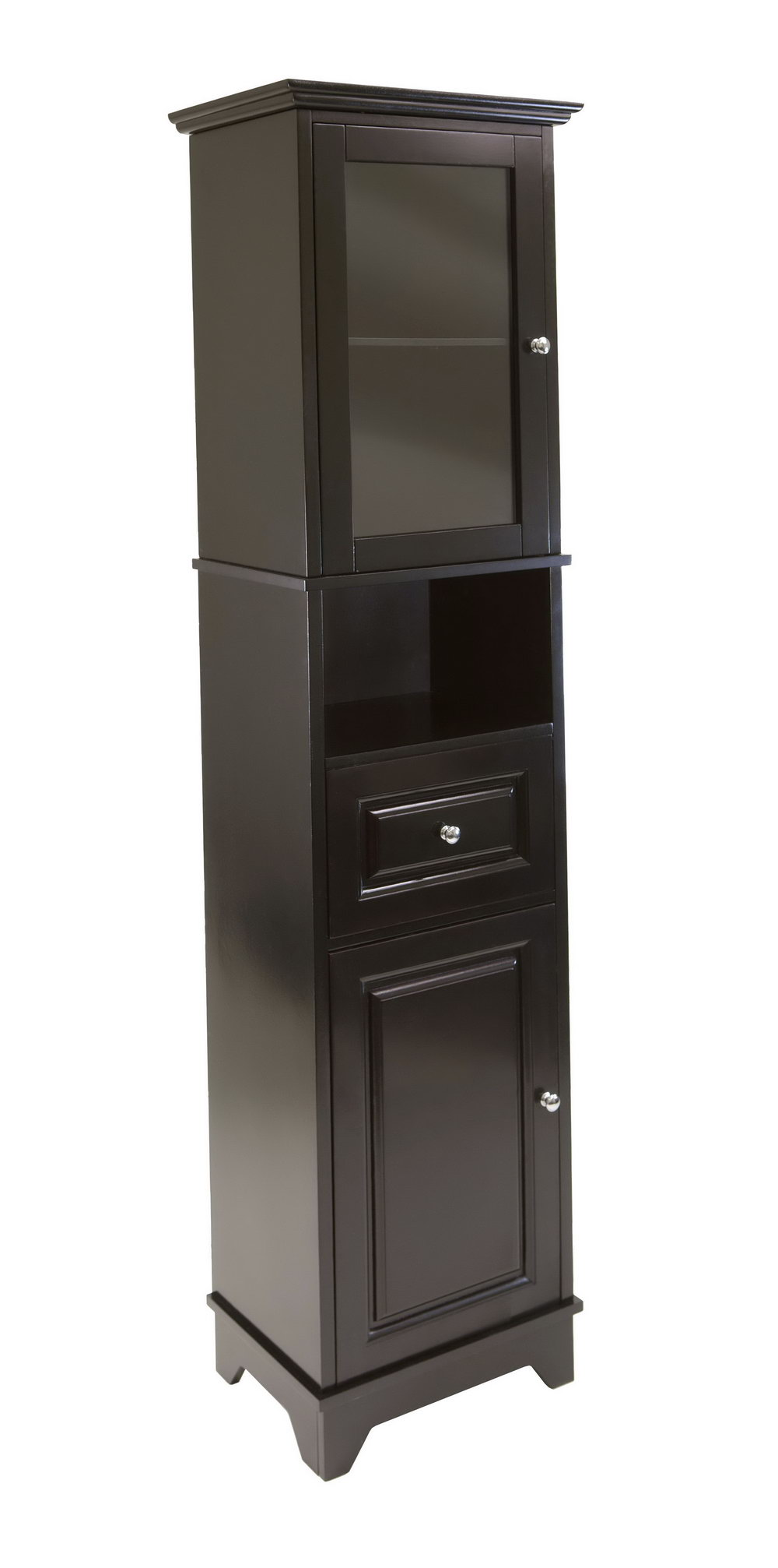 Tall Black Storage Cabinet With Doors