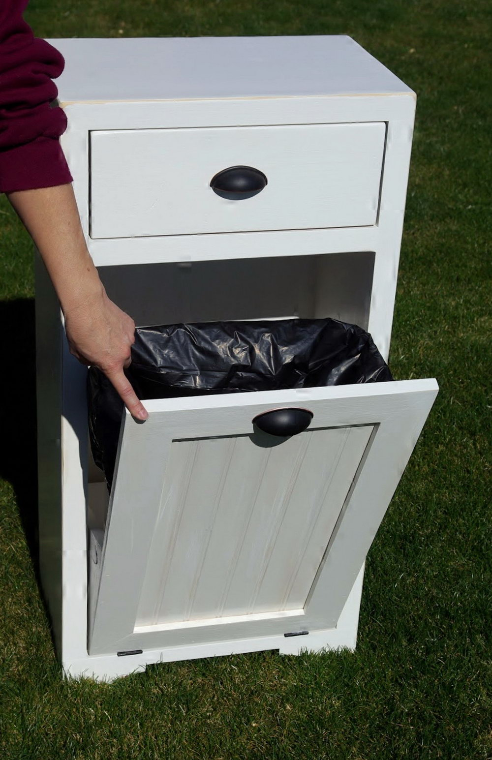 Trash Can Storage Cabinet