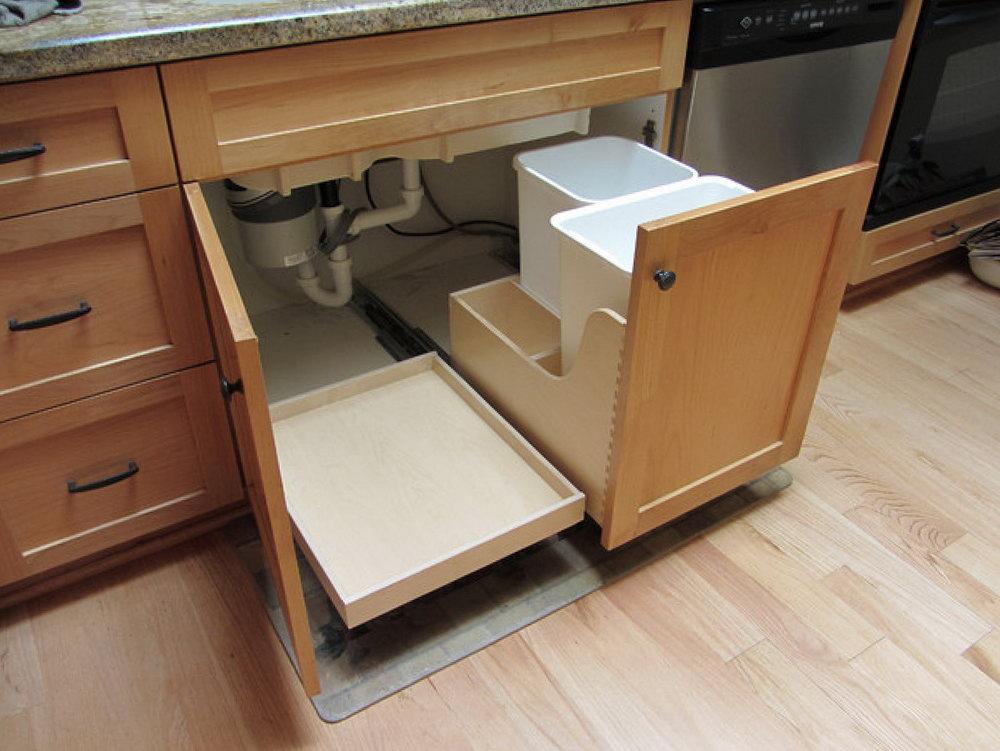 Under Kitchen Cabinet Storage Drawer