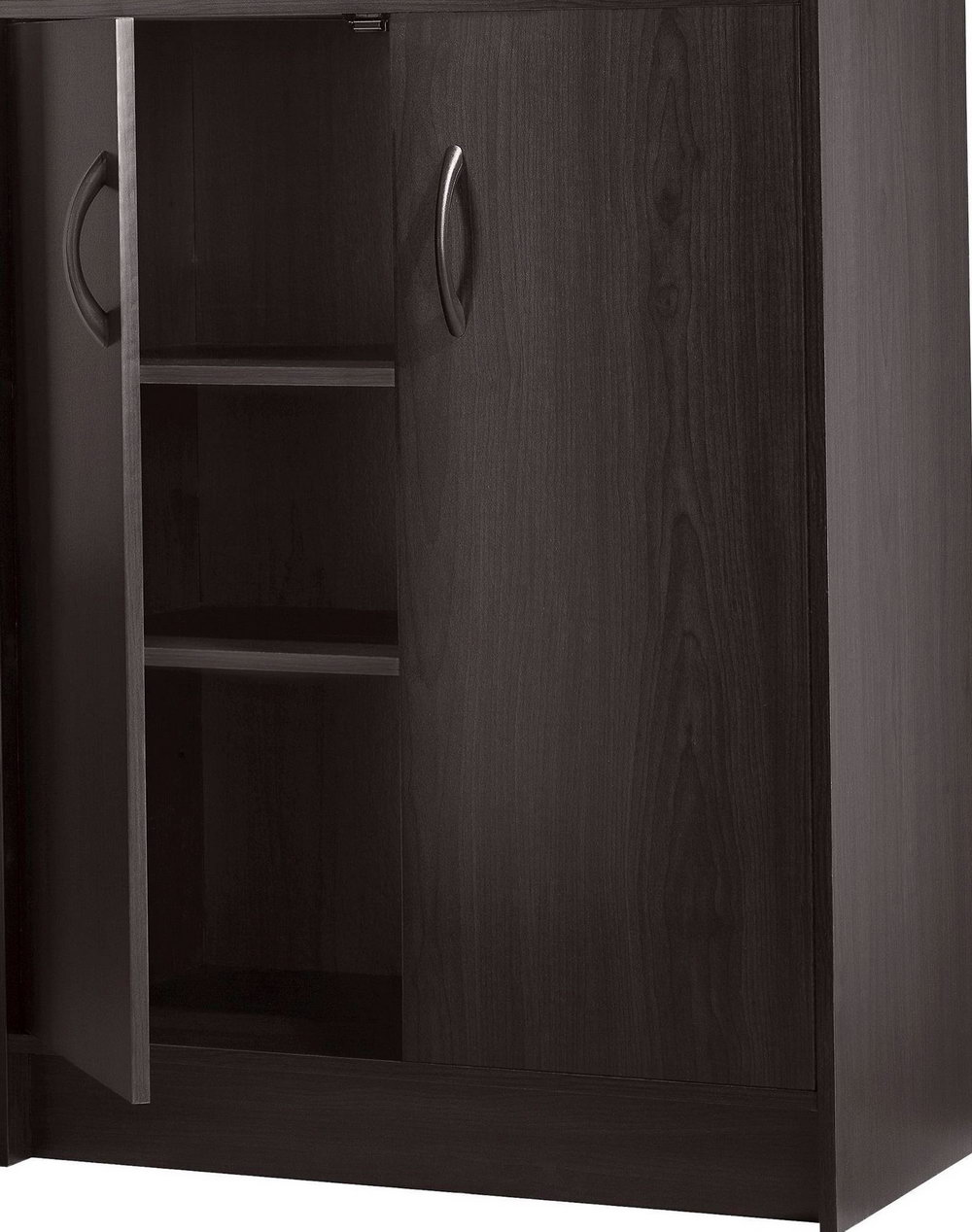 Utility Storage Cabinets 2 Door Organizer Espresso