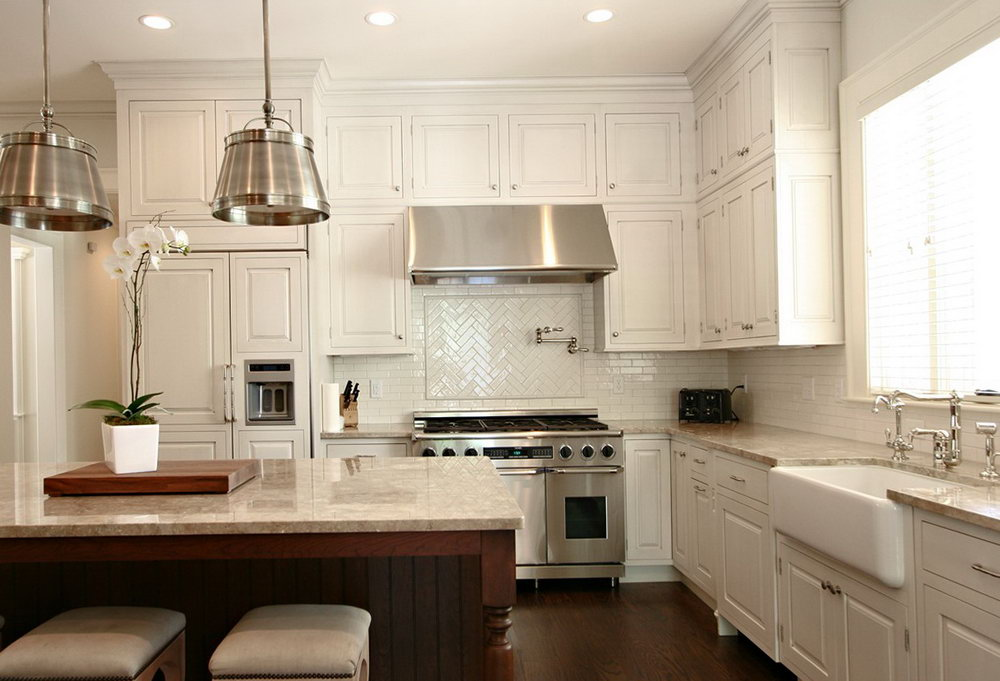 White Cabinets Kitchen Backsplash