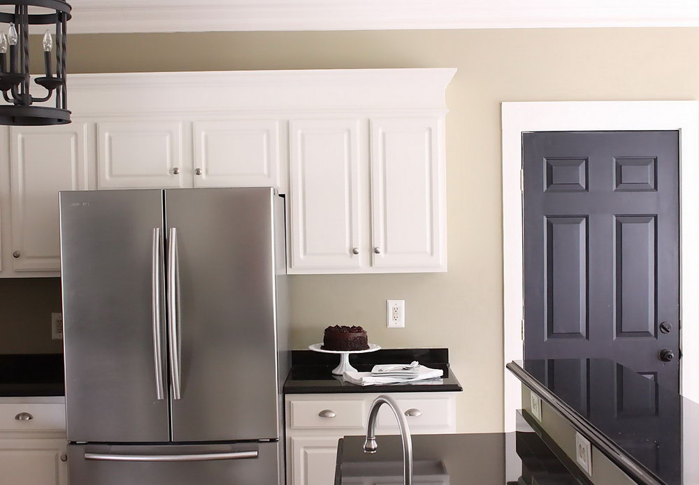 White Cabinets Kitchen Wall Color