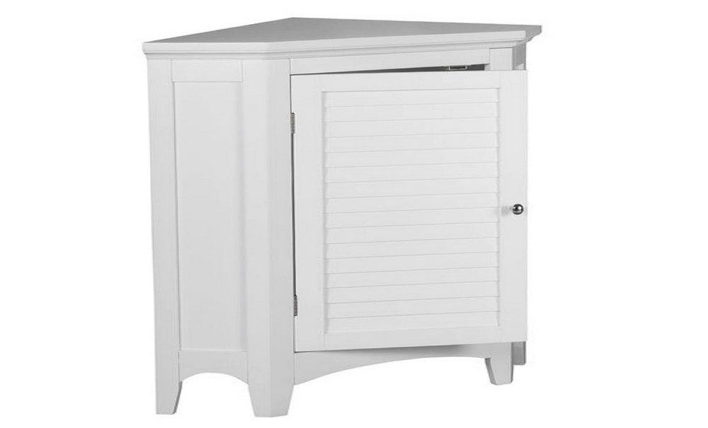 White Corner Storage Cabinet