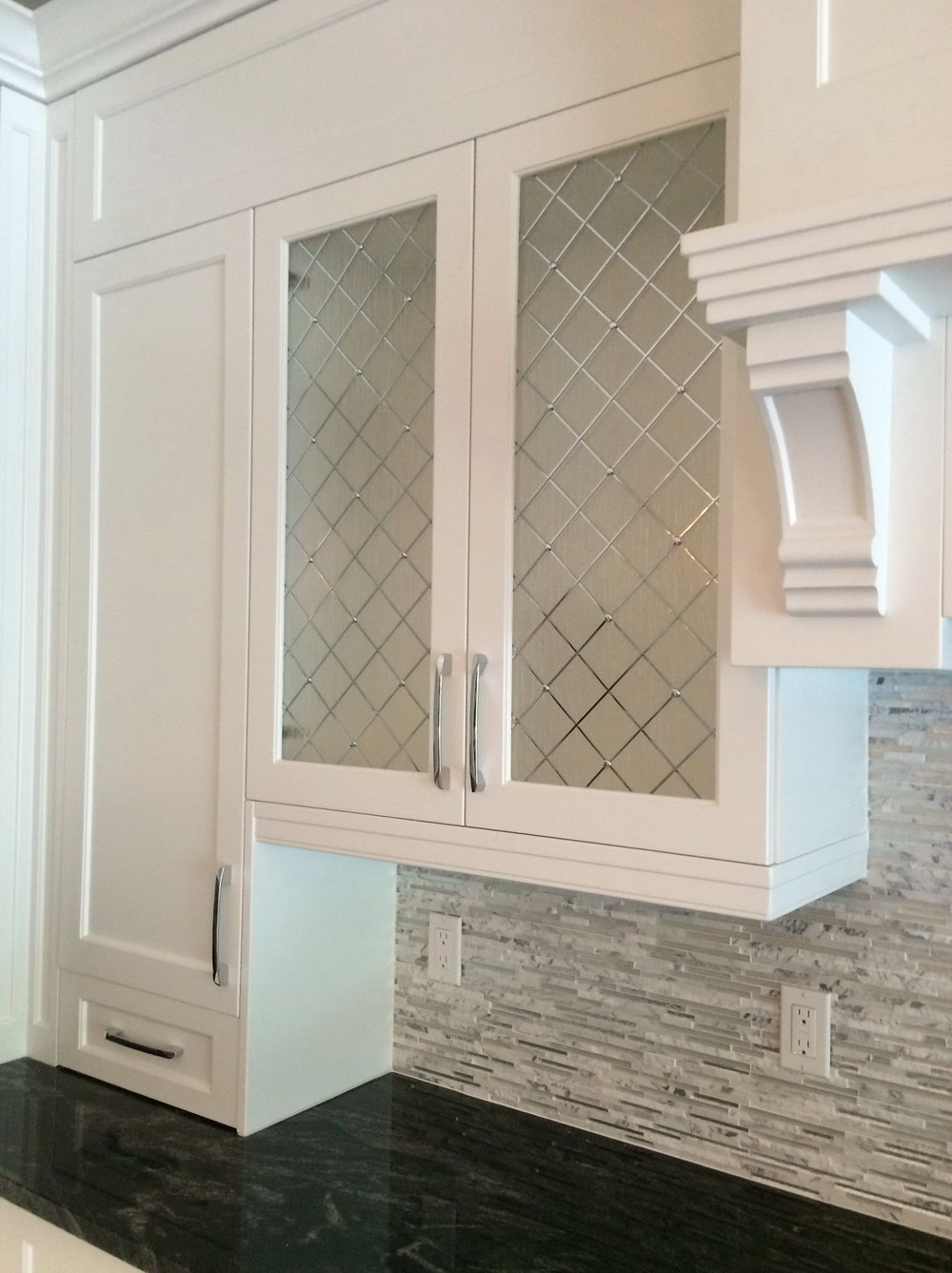 White Glass Kitchen Cabinet Doors