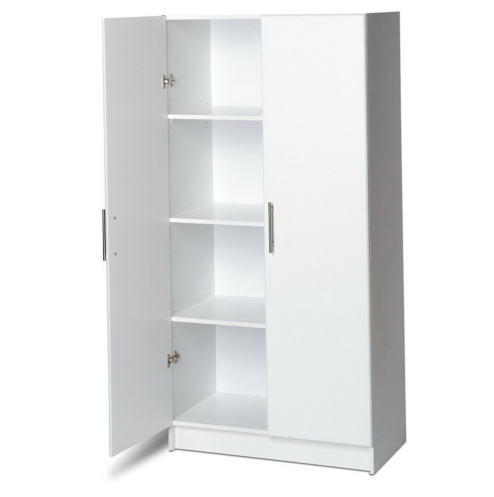 White Storage Cabinets With Doors And Shelves