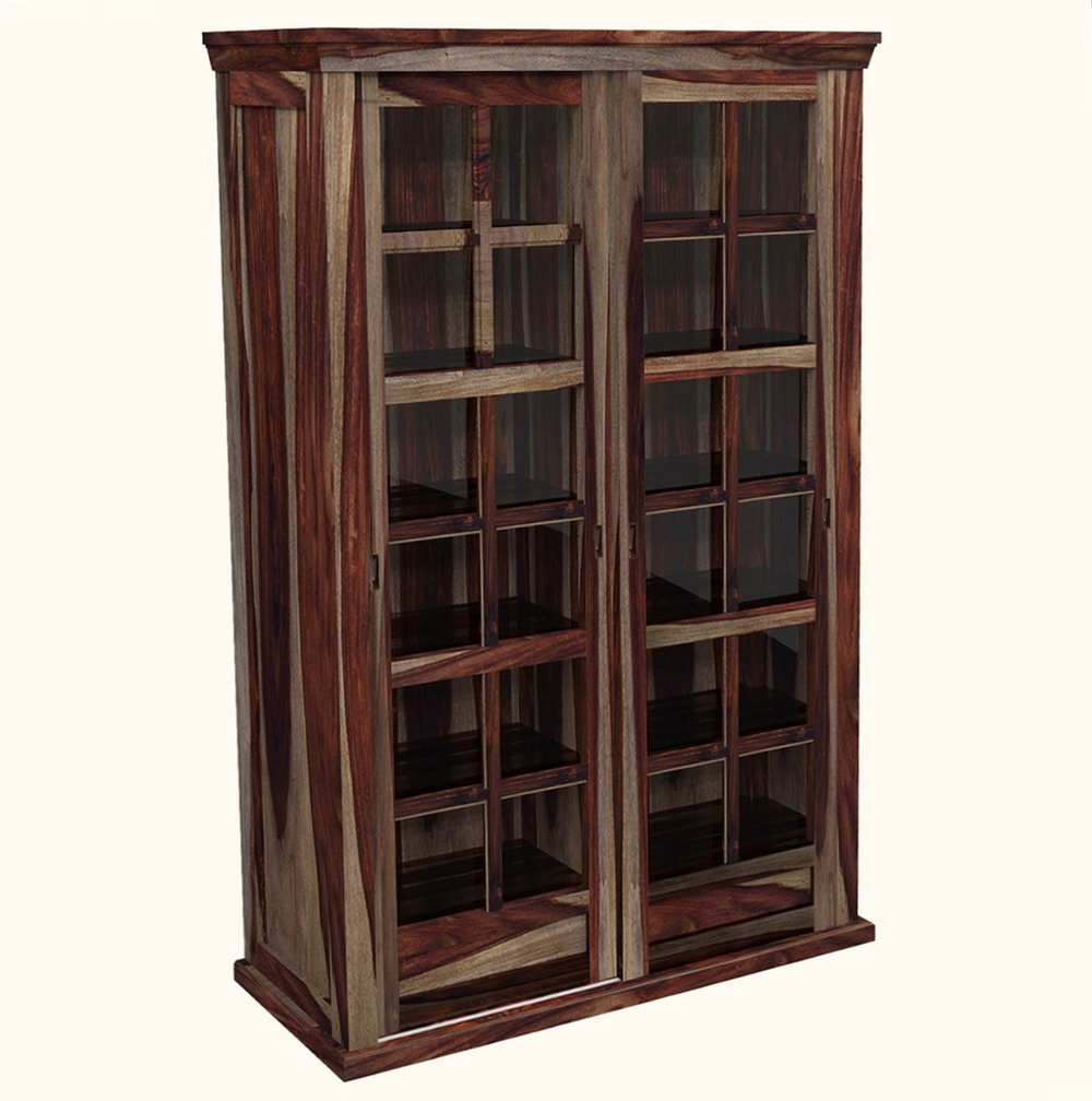 Wood Storage Cabinet With Locking Doors