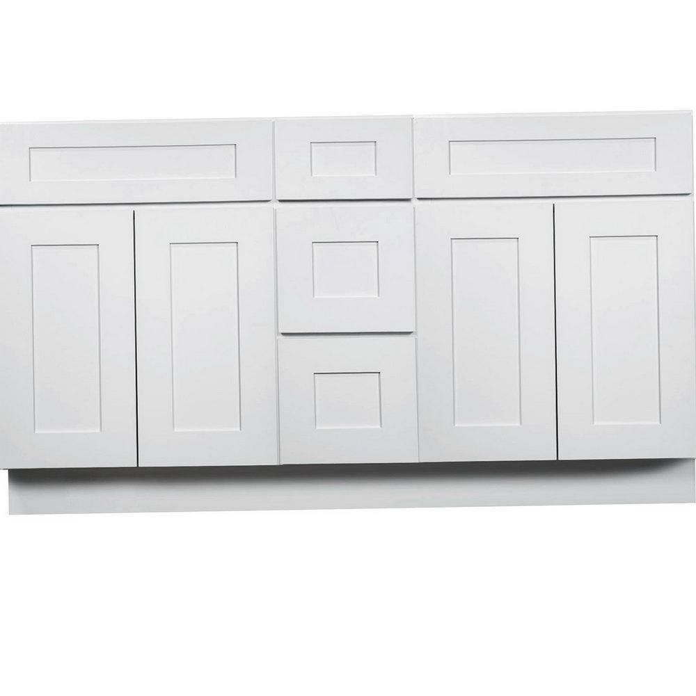 60 Inch Kitchen Sink Base Cabinet White