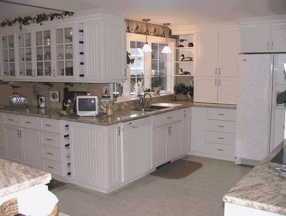 Beadboard Kitchen Cabinets White