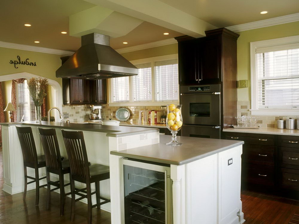 Beige Kitchen Cabinets With Stainless Steel Appliances