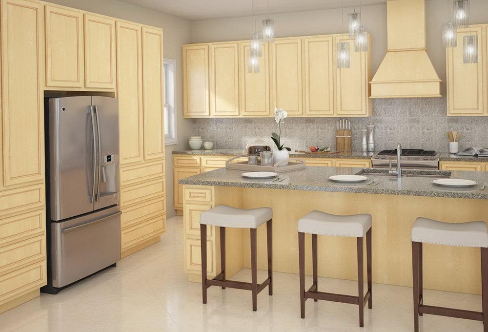Birch Kitchen Cabinets Home Depot