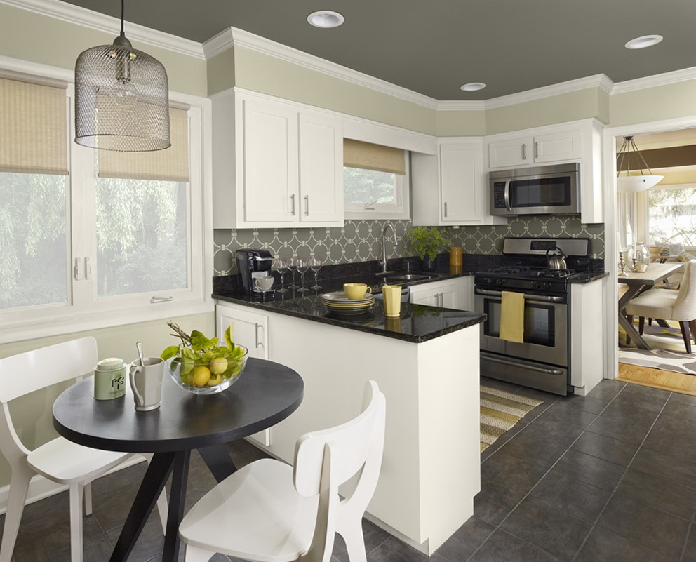 Black And White Painted Kitchen Cabinets