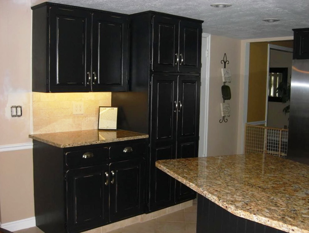 Black Vintage Kitchen Cabinets