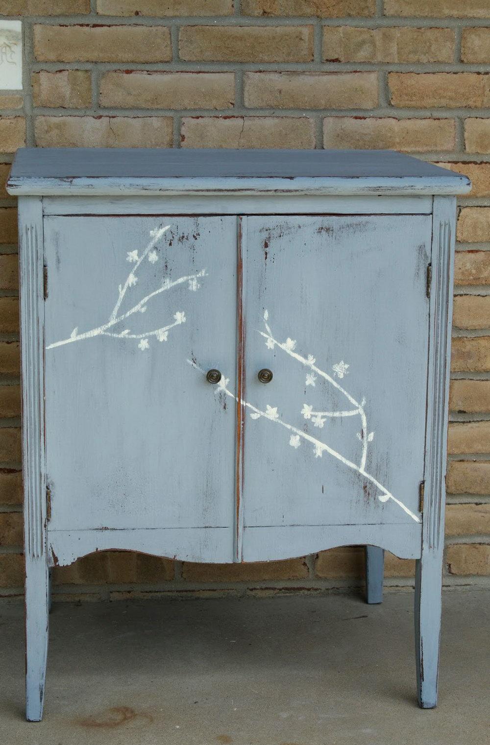 Blue Milk Paint Kitchen Cabinets