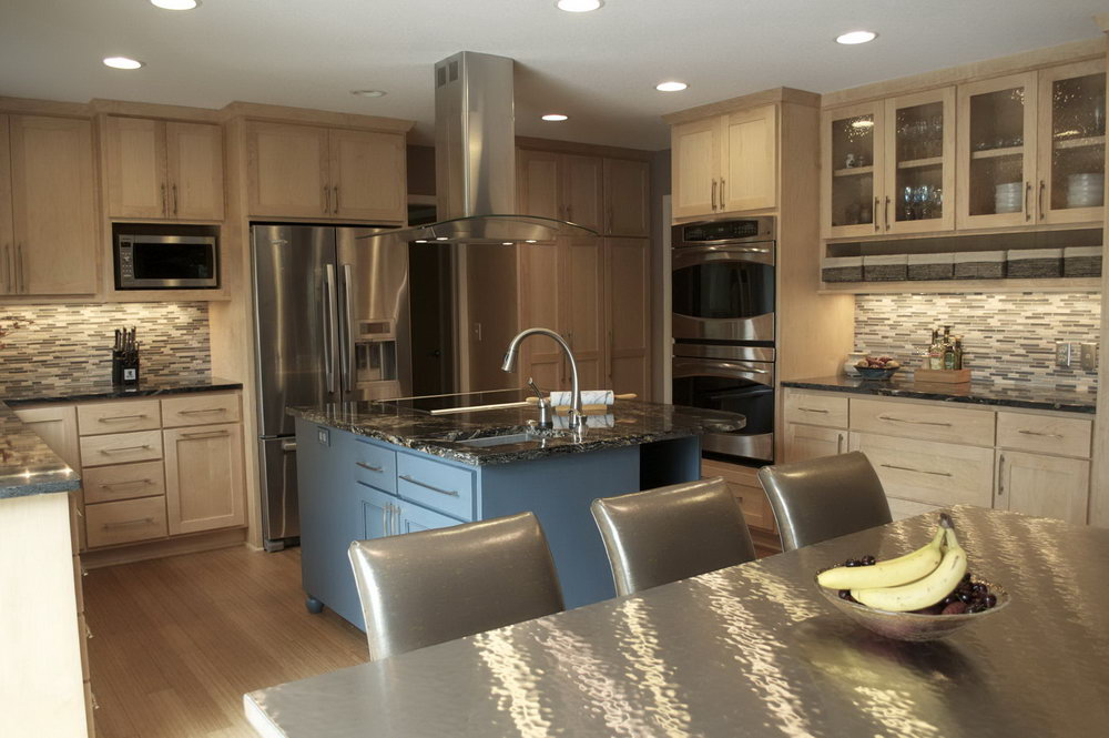 Brown And Beige Kitchen Cabinets