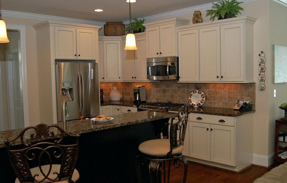 Brown Kitchen Cabinets To White