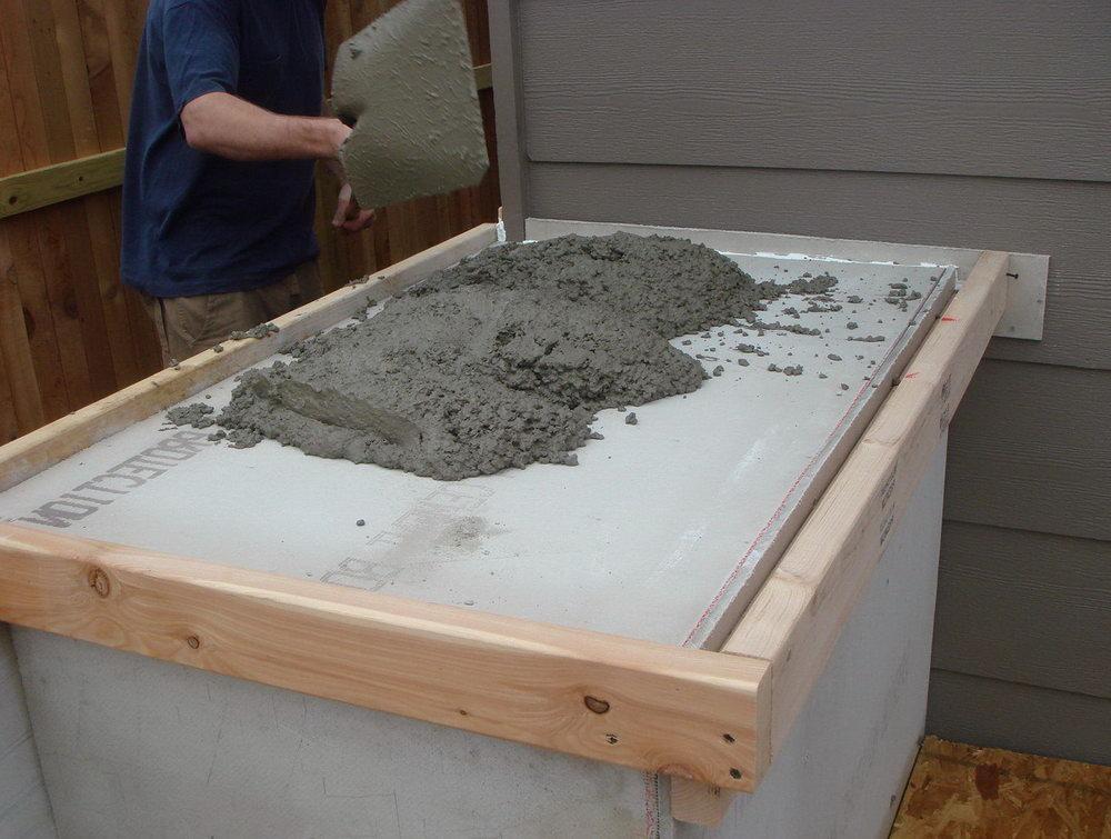 Build Concrete Kitchen Cabinets