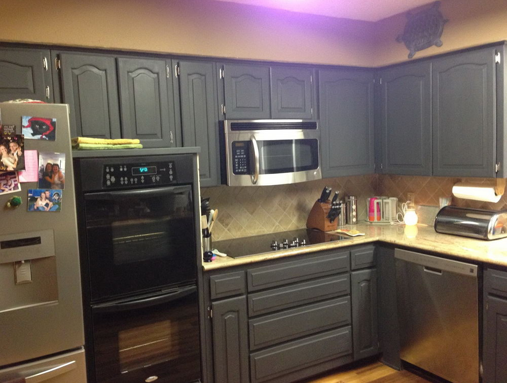 Chalk Painted Kitchen Cabinets Before And After