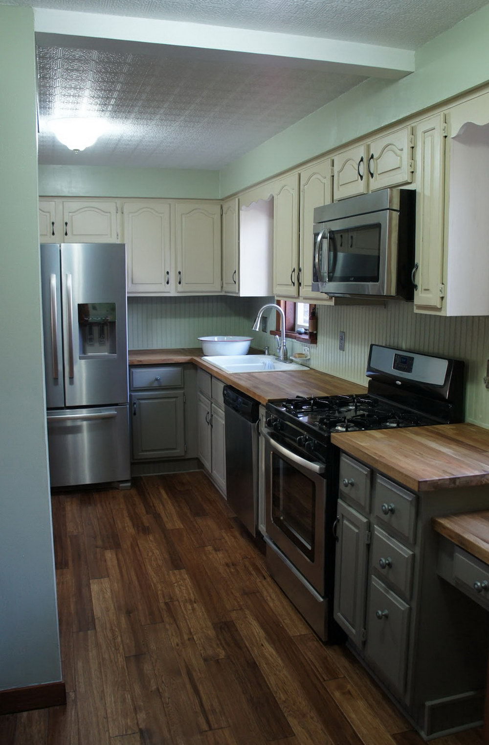 Chalk Painted Kitchen Cabinets Old White