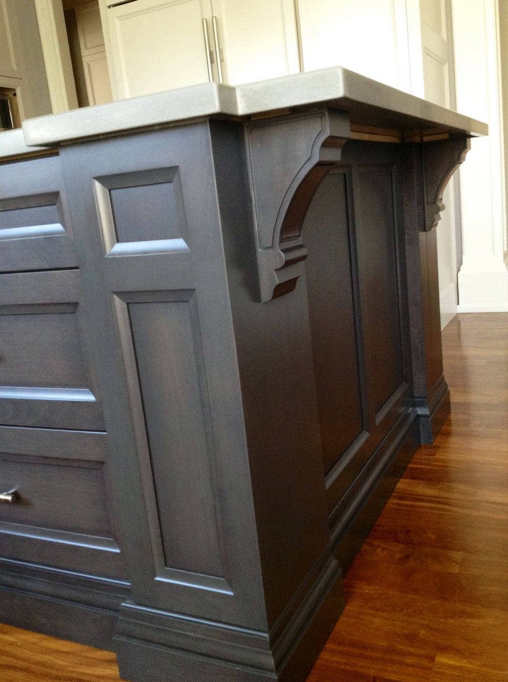 Charcoal Stained Kitchen Cabinets