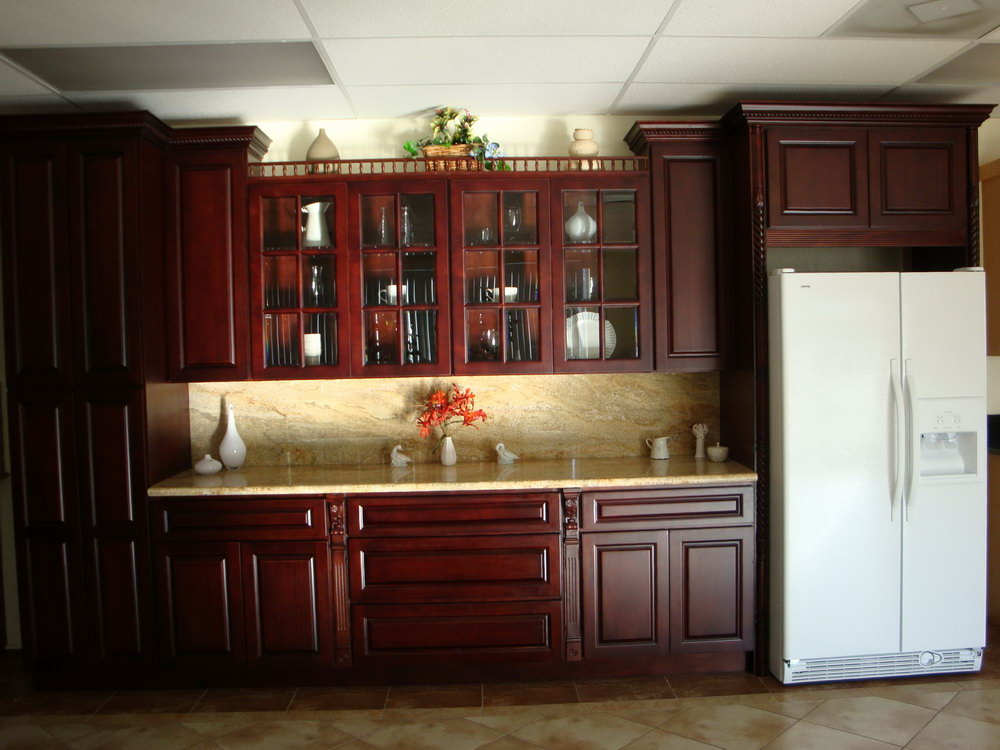 Cherry Wood Kitchen Cabinets For Sale
