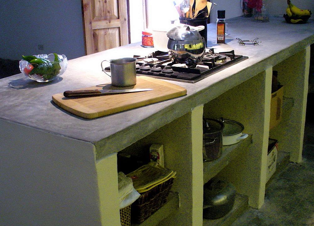Concrete Base Kitchen Cabinets