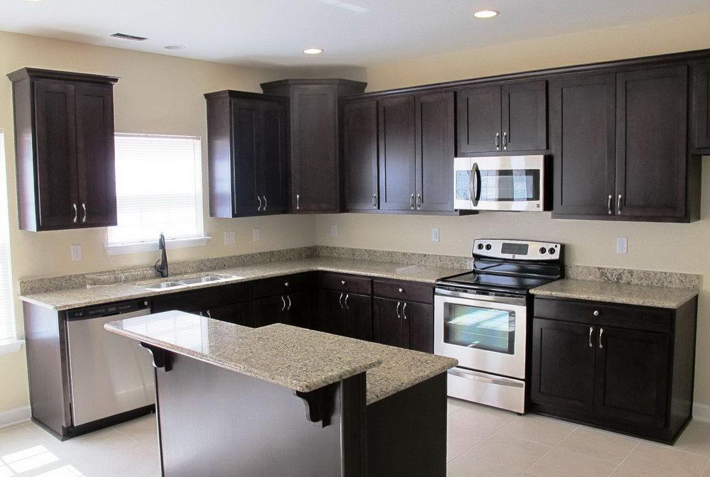 Dark Beige Kitchen Cabinets