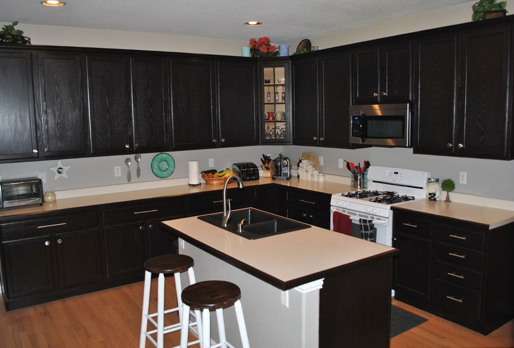 Dark Brown Kitchen Cabinets Pictures