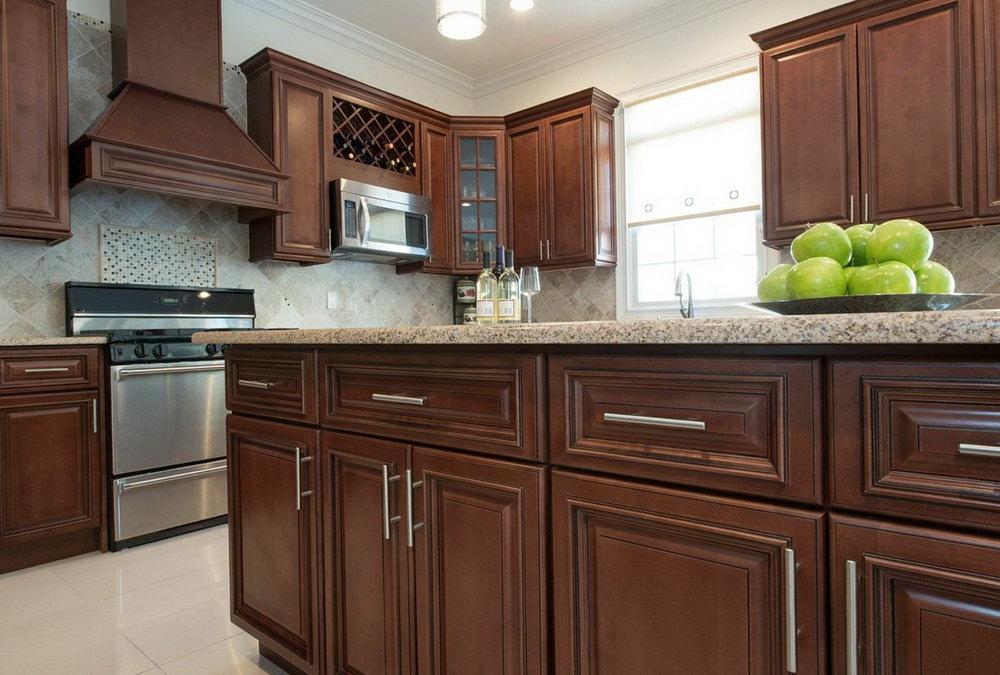 Dark Brown Kitchen Cabinets With Bronze Hardware