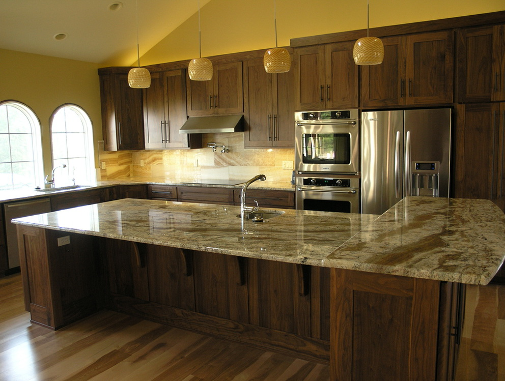 Dark Walnut Kitchen Cabinets