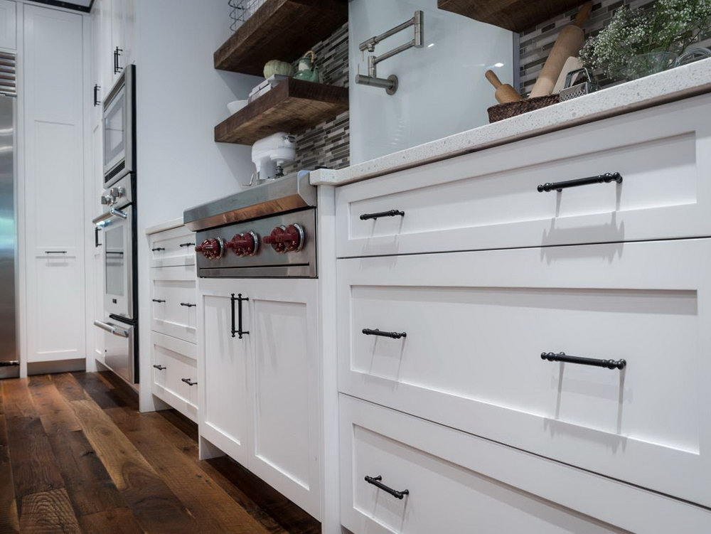 Distressed White Kitchen Cabinets Pictures