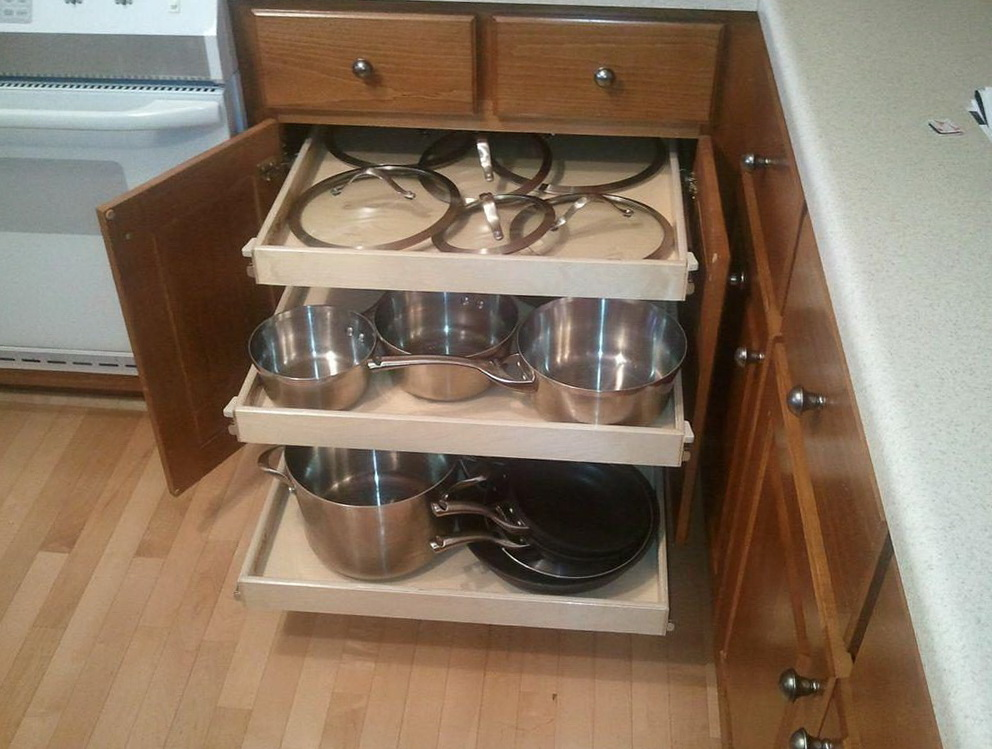 Diy Pull Out Shelves For Kitchen Cabinets