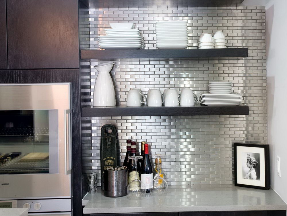 Espresso Kitchen Cabinets With Backsplash