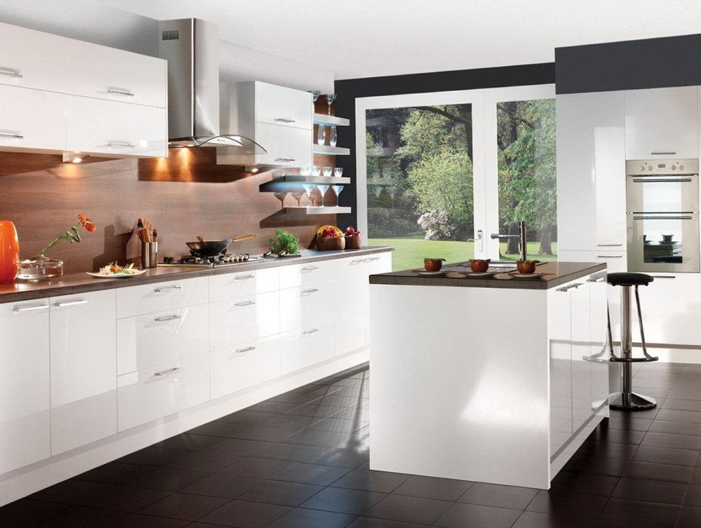 European White Kitchen Cabinets