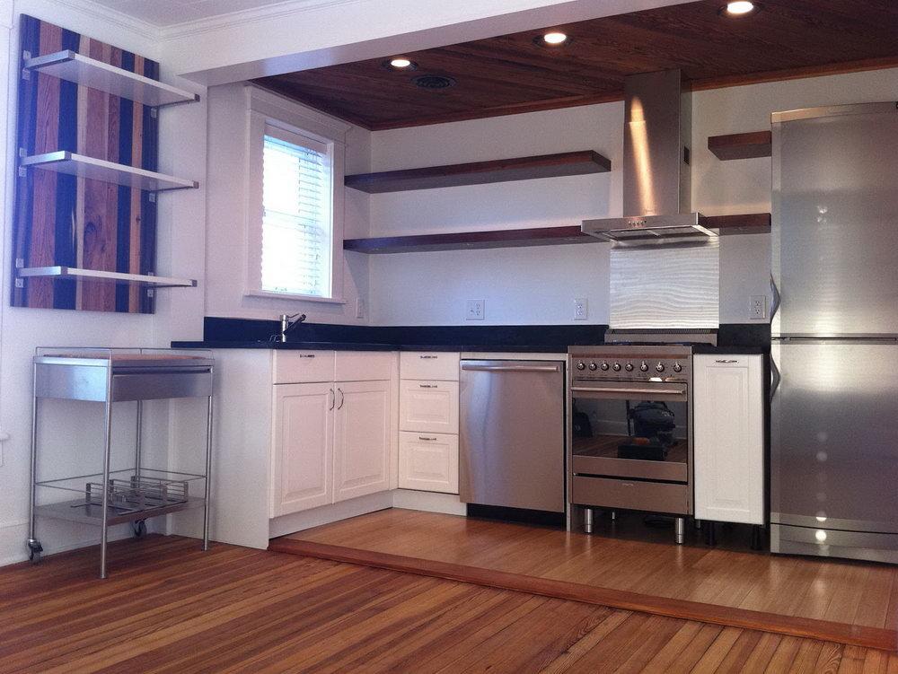 Floating Kitchen Base Cabinets
