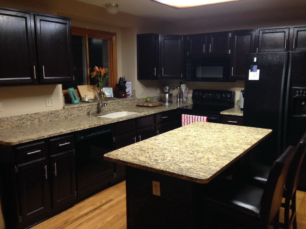 Gel Stain Kitchen Cabinets Black