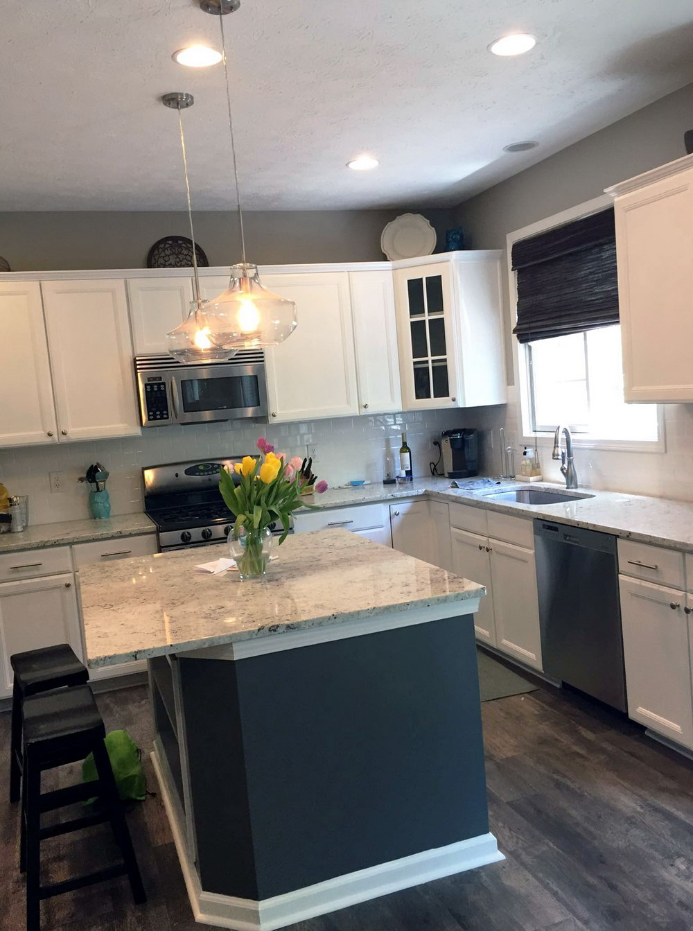 General Finishes Snow White Milk Paint Kitchen Cabinets