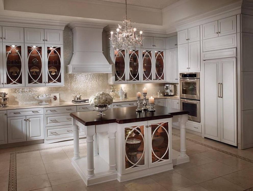 Glass Door Upper Kitchen Cabinets