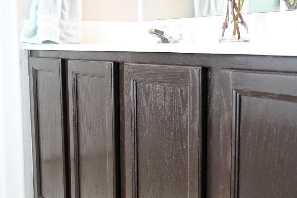 Gray Gel Stain Kitchen Cabinets