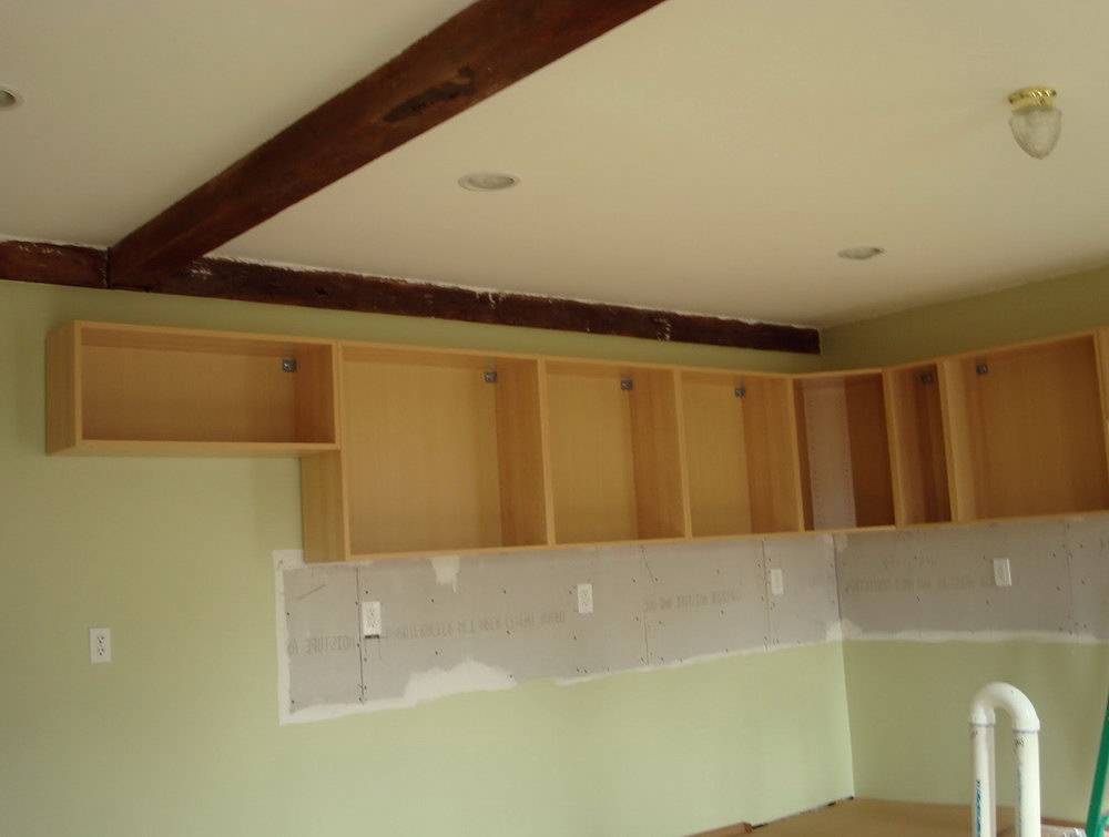 Hanging Kitchen Cabinets On Concrete Walls