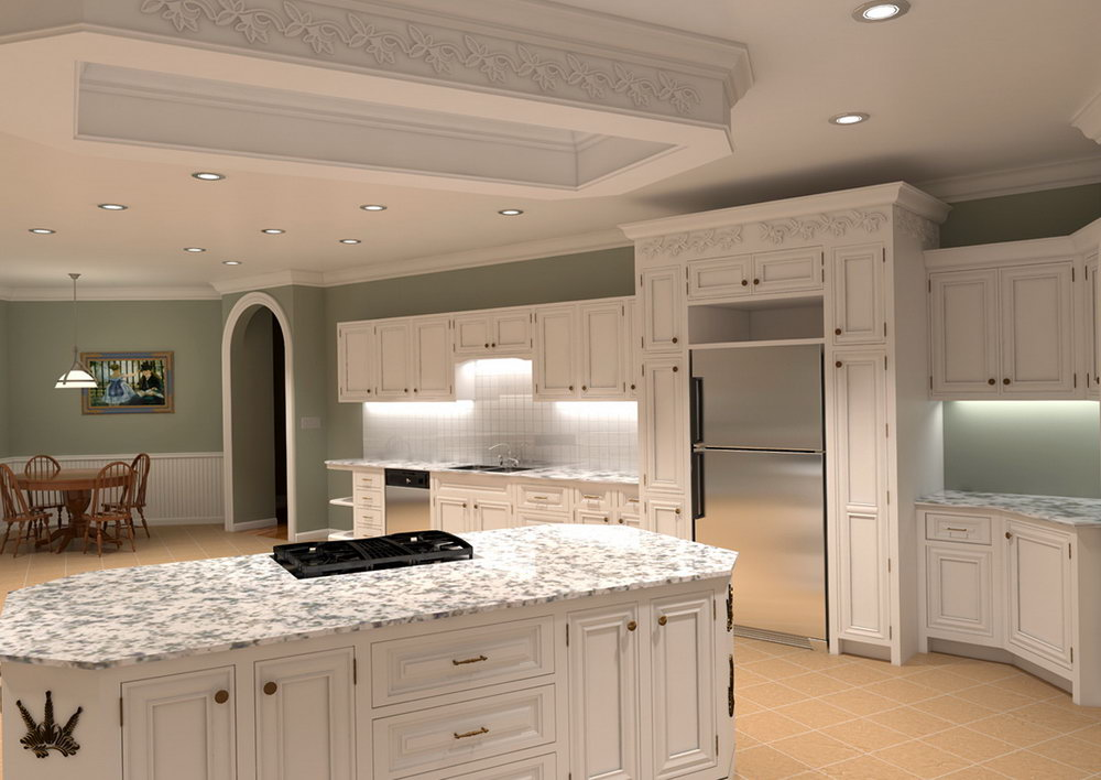 High End White Kitchen Cabinets
