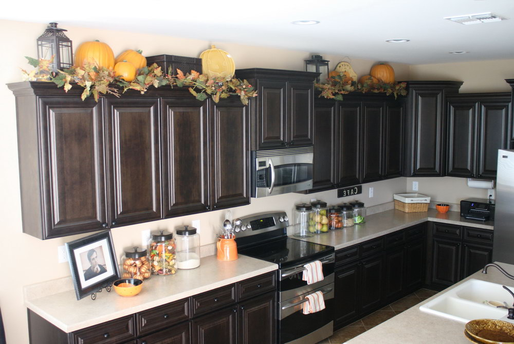 How To Decorate Above Kitchen Cabinets For Fall