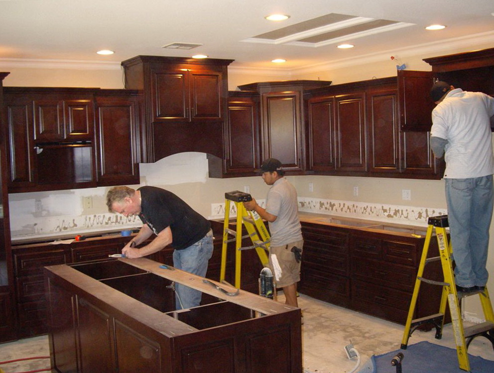 How To Hang Kitchen Cabinets From Ceiling