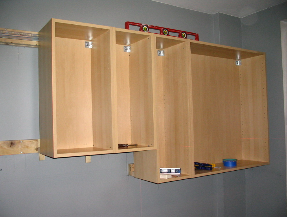 How To Hang Kitchen Cabinets In Garage