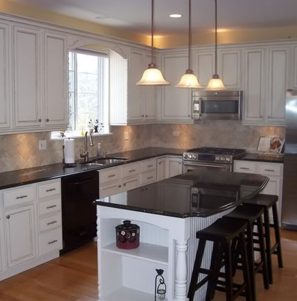 How To Repaint Kitchen Cabinets Antique White