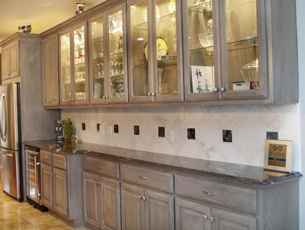 How To Stain Oak Kitchen Cabinets Grey